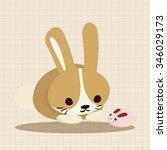 animal rabbit cartoon theme... | Shutterstock .eps vector #346029173