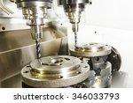 metalwork industry. milling...   Shutterstock . vector #346033793