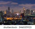 bangkok cityscape  business... | Shutterstock . vector #346035923