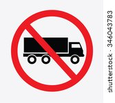 no truck or no parking sign... | Shutterstock .eps vector #346043783