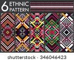 geometric ethnic pattern... | Shutterstock .eps vector #346046423