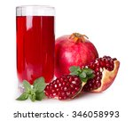 pomegranate and juice isolated... | Shutterstock . vector #346058993