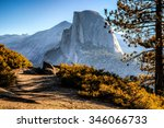 half dome trail view  yosemite... | Shutterstock . vector #346066733