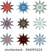 Nine Different Ten Pointed Stars