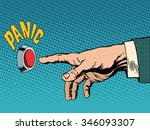 panic business concept... | Shutterstock .eps vector #346093307