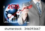 business man drawing growth... | Shutterstock . vector #346093667