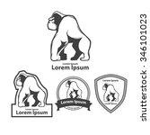 silhouette gorilla  profile... | Shutterstock .eps vector #346101023