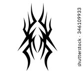 tribal tattoo vector design... | Shutterstock .eps vector #346109933