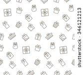 present seamless pattern.    Shutterstock . vector #346121213