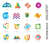 web icons and business vector... | Shutterstock .eps vector #346128707