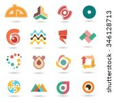 web icons and business vector... | Shutterstock .eps vector #346128713