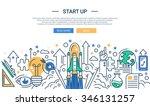 illustration of vector modern... | Shutterstock .eps vector #346131257
