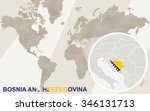 zoom on bosnia and herzegovina... | Shutterstock . vector #346131713