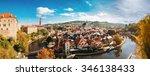 Panorama Cesky Krumlov. Castle...