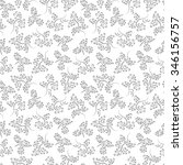 leaves seamless pattern. floral ... | Shutterstock .eps vector #346156757