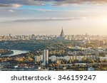 Aerial View Of Moscow City Wit...