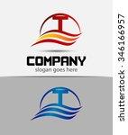 letter t logo  | Shutterstock .eps vector #346166957
