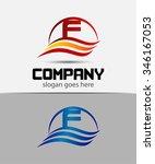 letter f logo  | Shutterstock .eps vector #346167053