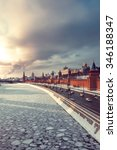 view of kremlin  winter moscow... | Shutterstock . vector #346188347