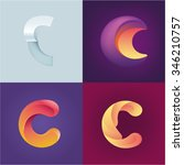 logo idea of letter c set | Shutterstock .eps vector #346210757