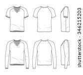 men's clothing set. front  back ...   Shutterstock .eps vector #346215203