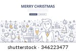 holiday doodle concept of... | Shutterstock .eps vector #346223477