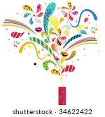 funky fireworks | Shutterstock .eps vector #34622422