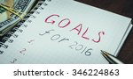 goals for 2016 message with 100 ... | Shutterstock . vector #346224863