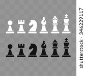 modern minimal chess icon set...