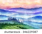 italy mountains landscape.... | Shutterstock . vector #346229387
