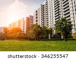 new apartment building in... | Shutterstock . vector #346255547