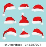 Santa Claus Red Hat Silhouette...
