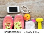 shoes and water with set for... | Shutterstock . vector #346271417