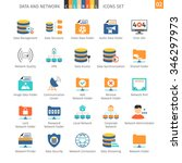data and networks colorful icon ... | Shutterstock .eps vector #346297973