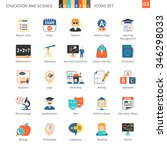 education and science colorful... | Shutterstock .eps vector #346298033
