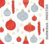 christmas seamless pattern with ... | Shutterstock .eps vector #346317263