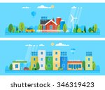 two horizontal banners.... | Shutterstock .eps vector #346319423