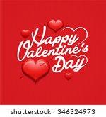 valentines day vintage... | Shutterstock .eps vector #346324973