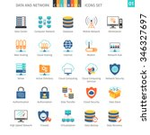 data and networks colorful icon ... | Shutterstock .eps vector #346327697