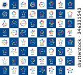 set of abstract vector logos...   Shutterstock .eps vector #346331543