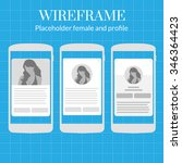 mobile app wire frame blueprint ...