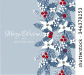 merry christmas and happy new... | Shutterstock .eps vector #346378253