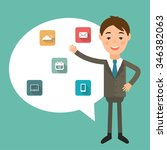illustration of a businessman... | Shutterstock .eps vector #346382063