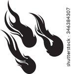 fireball  comet  meteor  vector ... | Shutterstock .eps vector #346384307