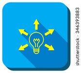 bulb light vector icon. style... | Shutterstock .eps vector #346393883