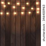 vector illustration of wooden... | Shutterstock .eps vector #346400963