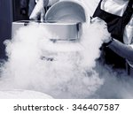 chef is making ice cream with... | Shutterstock . vector #346407587