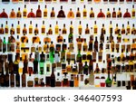 various alcohol bottles in a... | Shutterstock . vector #346407593