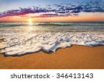 sunset on a background a sea. | Shutterstock . vector #346413143