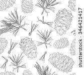 seamless background from fir... | Shutterstock .eps vector #346421417
